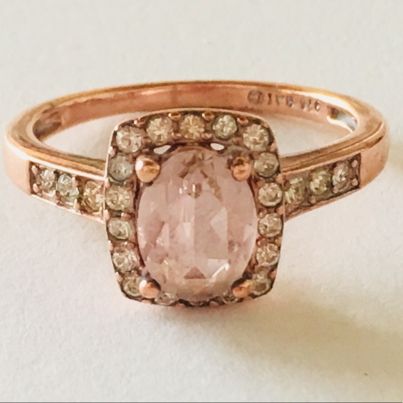 Jewelry - Morganite 18k Gold Sterling Silver 925 Rose Gold